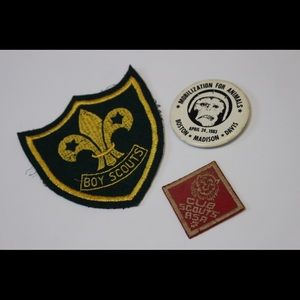 Vintage patches and button
